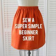 sew a super simple beginner skirt