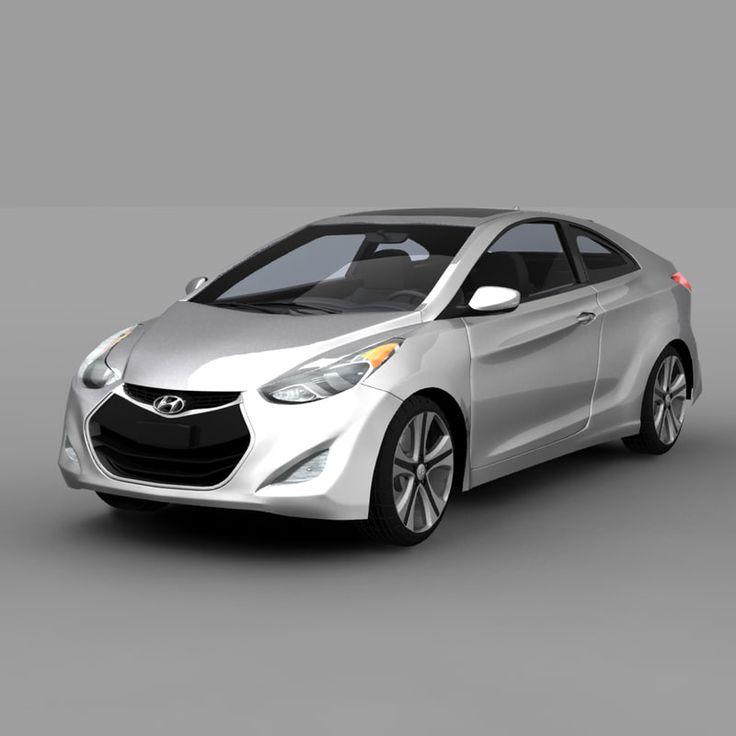 3D Hyundai Elantra Coupe 2014 Model - 3D Model