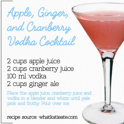 Cocktail of the Week: Apple, Ginger, and Cranberry Vodka Cocktail | Moon Wine and Spirits