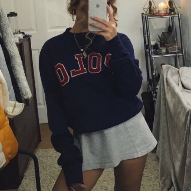 48c5a99c Polo Ralph Lauren navy blues jumper sweatshirt 💎 best fit a - Depop ...