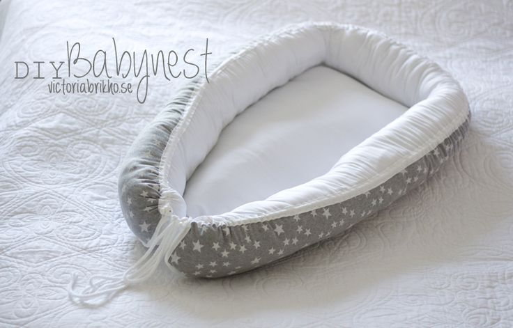 A baby nest is warm and cozy for your baby to sleep in and it is easy (and cheap) to make yourself. This is how I did mine.