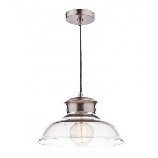 Dar Lighting Siren Copper and Glass Ceiling Pendant Light SIR0164 - Dar Lighting from The Home Lighting Centre UK