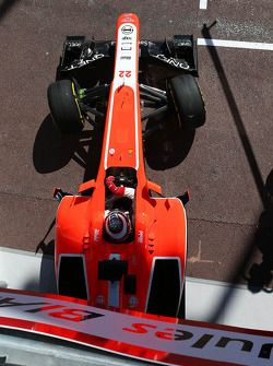 Jules Bianchi, Marussia F1 Team MR02 leaves the pits 2013/05/21 to 2013/05/26 Monte Carlo
