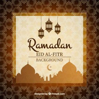 Brown decorative ramadan background