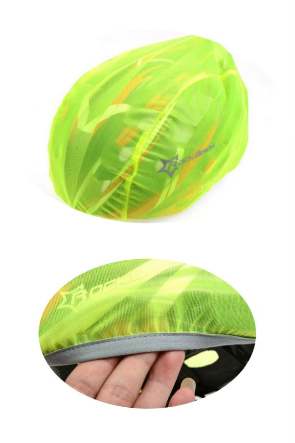 Windproof and dustproof helmet cover, from RockBros. Winter cycling gear for the head