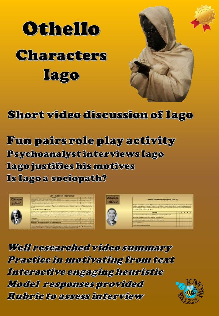 the misogynistic character of iago in othello by william shakespeare The tragical story of shakespeare's othello  william shakespeare  othello orders iago to kill cassio and smothers desdemona himself.