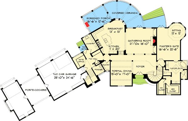 Plan 9323el french country estate home plan house plans for Country estate home designs