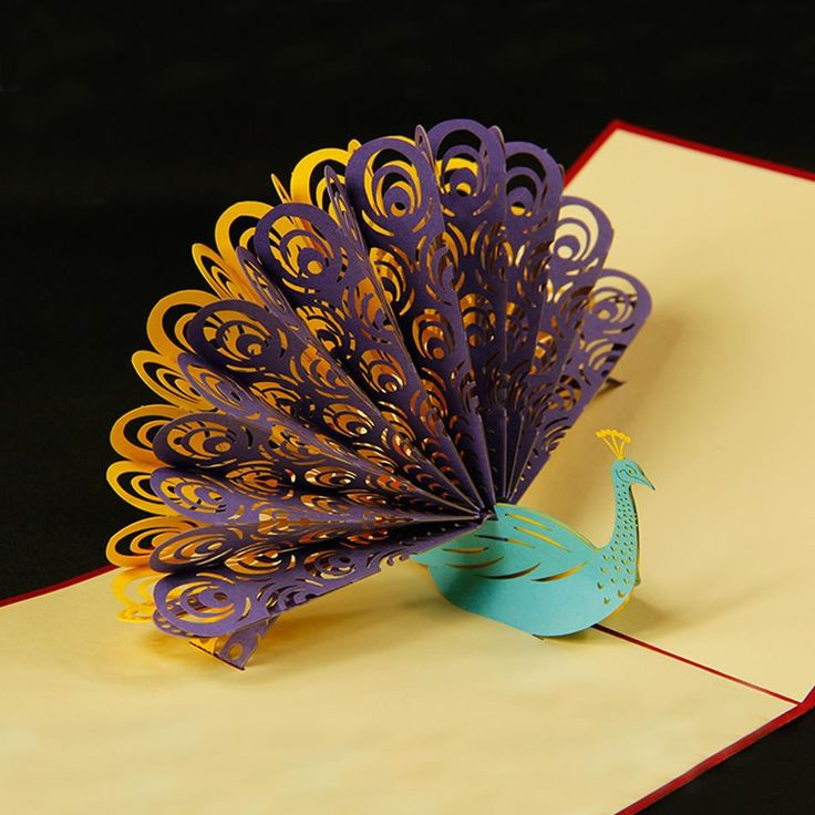 Sensational Peacock 3D Pop Up Greeting Card Folded Book Art Cards Personalised Birthday Cards Sponlily Jamesorg