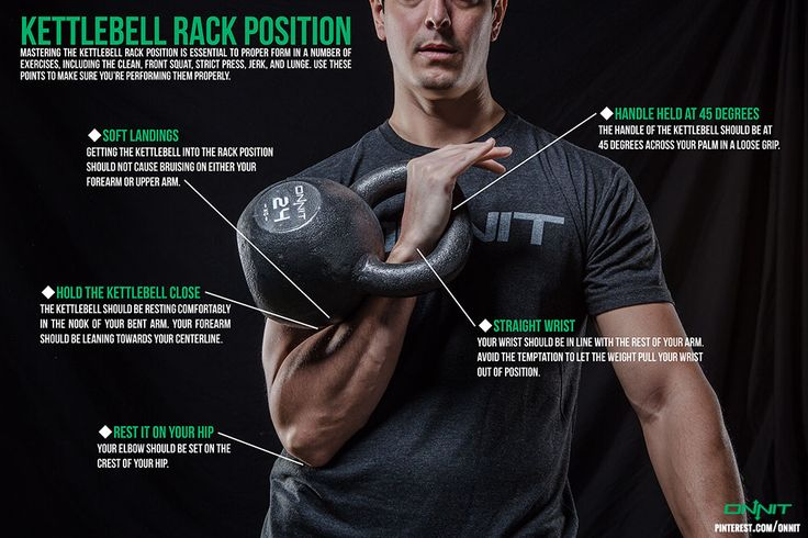 Kettlebell Rack Position - Get Your Kettlebells, Primalbell and Zombiebells @ https://www.onnit.com/?a_aid=K2ATD