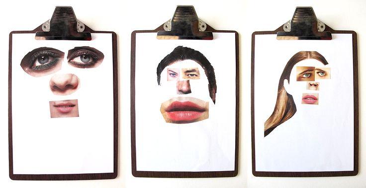 Caras hechas por niños con tecnicas de collage con revistas viejas   Blog www.micasaencualquierparte.com