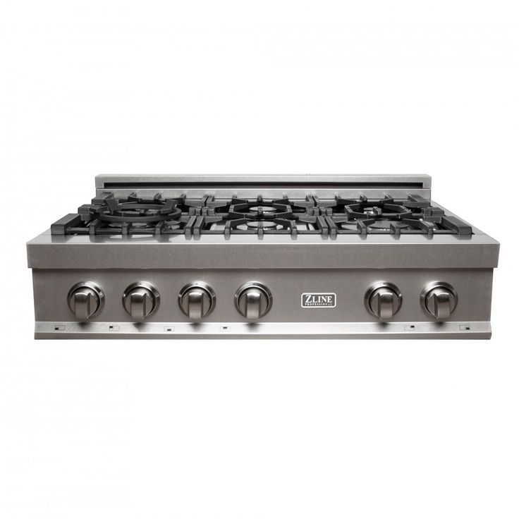 Zline 36 In Porcelain Rangetop In Durasnow Stainless Steel With 6 Gas Burners Rts 36 In 2020 Gas Cooktop Cooktop Gas Burners