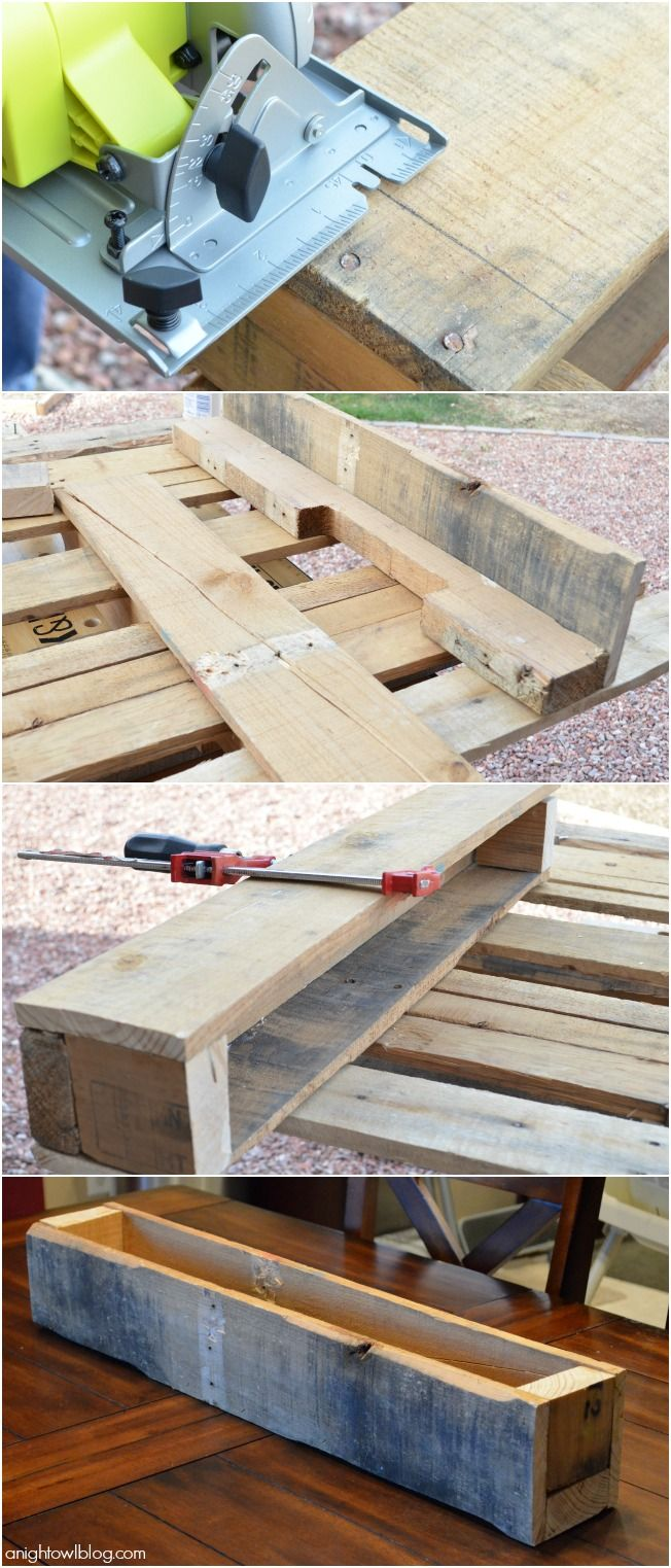 Create a beautiful centerpiece box with pallet wood and 3M DIY!