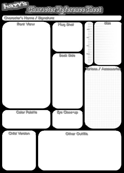 12 best Blank OC sheet images on Pinterest Character sheet - blank reference sheet