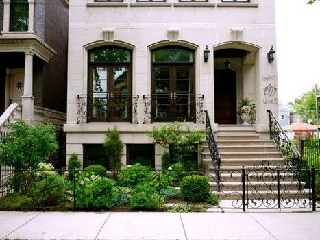 Perennial garden front yard landscaping ideas cardinal for Townhouse landscaping ideas for front yard