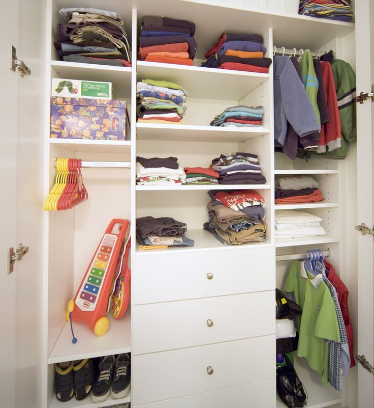 Custom designed wardrobes so you can see your baby's things at a glance.