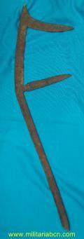 AFRICA. Cuchillo de lanzar en hierro. Modelo F. Etnias : Sara del ...