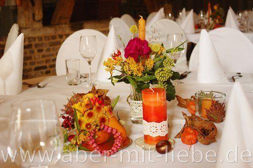 Tischdeko Orange, Hochzeitsdeko Orange, Tischdeko Hochzeit Herbst ...