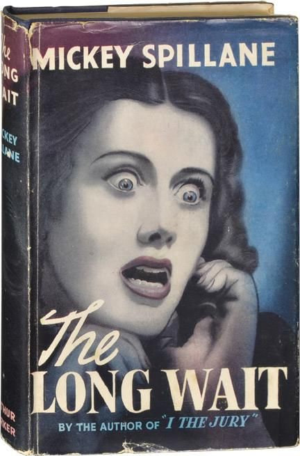 Lovely dust jacket. The Long Wait by Mickey Spillane - this is the UK first edition from 1953.