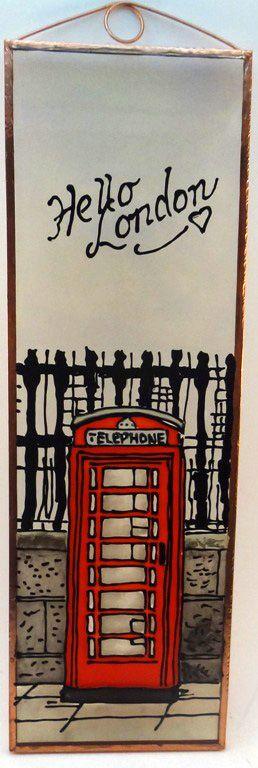 Telefonfülke Grafika: Navratil Zsuzsa Üvegre kivitelezte: Kőrösi Andrea Mérete: 7,5 x 23,5 cm