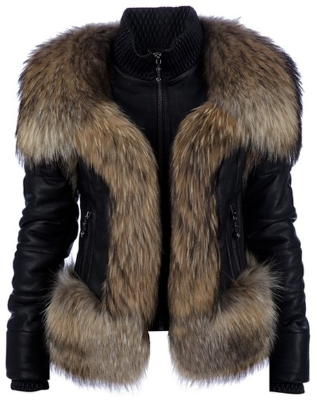 PHILLIP PLEIN Lamb Leather Fur Jacket
