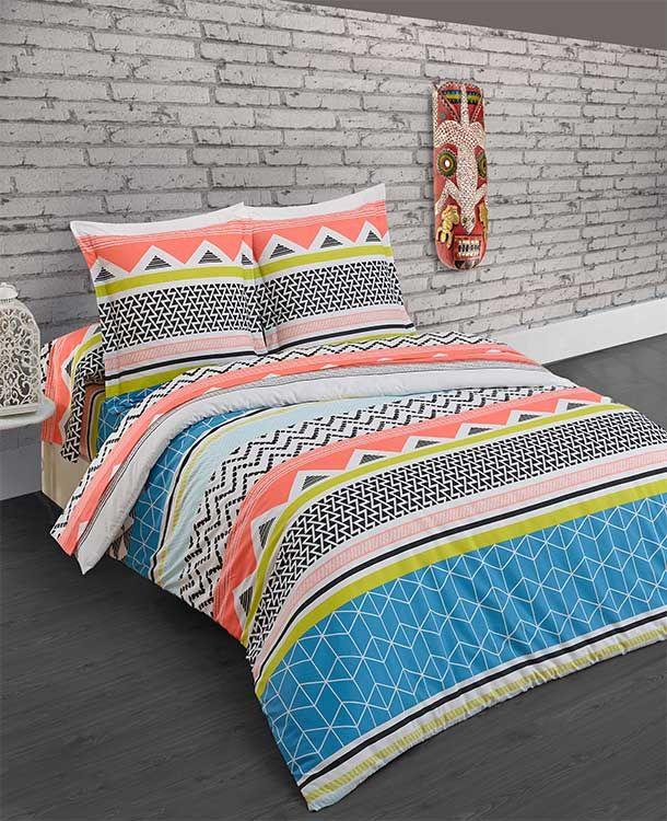 les 45 meilleures images du tableau geometric bedroom sur pinterest linge de lit couettes et. Black Bedroom Furniture Sets. Home Design Ideas