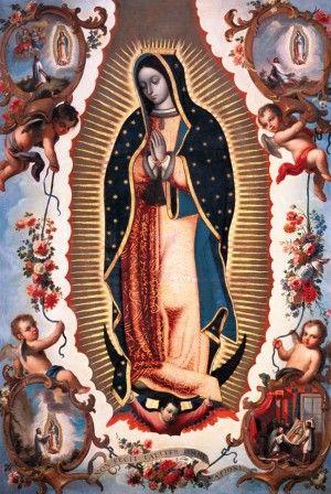 Nuestra Señora de Guadalupe. Juan Patricio Morlete. Siglo XVII. Oleo sobre tela: