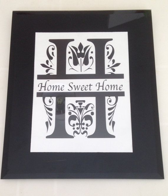 Home Sweet Home picture in frame by CraftySmartUK on Etsy, £15.00