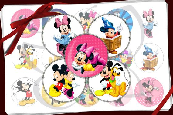 Mickey en Minnie fles dop beelden. Digitale afdrukbare collage blad perfect voor kroonkurken, stickers, haren bogen, buttons, magneten, Hangers, cupcake toppers, bottle cap kettingen, verjaardag partij gunsten, scrapbooking, cabochons, cadeau labels, sieraden en craft supplies.  WAT IS INBEGREPEN BIJ AANKOOP ♥ 15 scherpe, schone 600 dpi, hoge resolutiebeelden op een JPEG-bestand ♥ kunt u ofwel één set van 15 beelden of twee set van 30 beelden per standaardbrief papierformaat zo vaak als u…