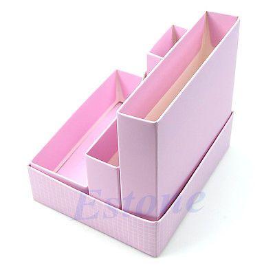 Hágalo usted mismo Maquillaje Cosmético Papelería papeles para Escritorio Decoración Organizador Caja de almacenamiento