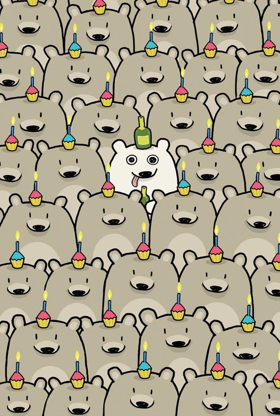 Happy Birthday Bears Card, Sebastien Millon