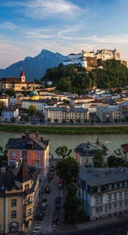 El castillo de Salzburgo, Austria