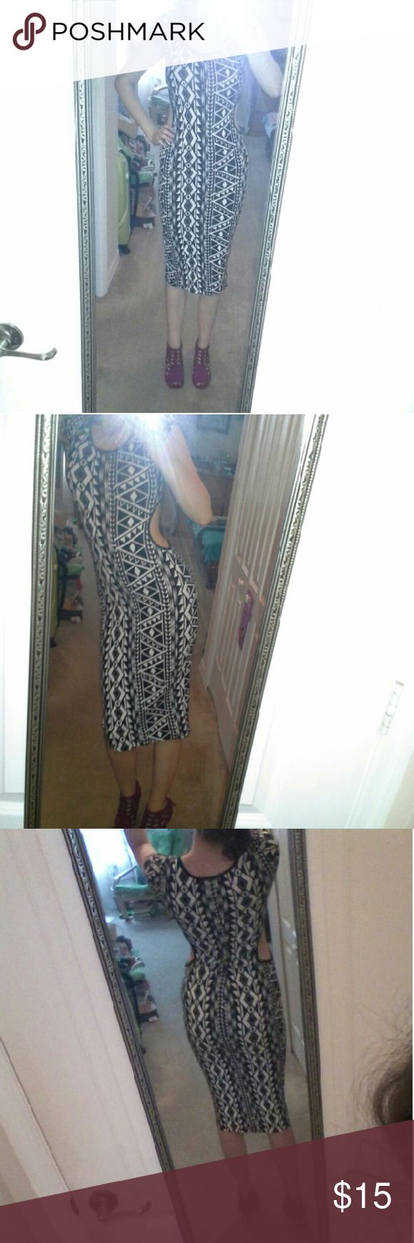BW Aztec Cutout Midi Dress Only worn once, perfect for a night out! Charlotte Russe Dresses Midi