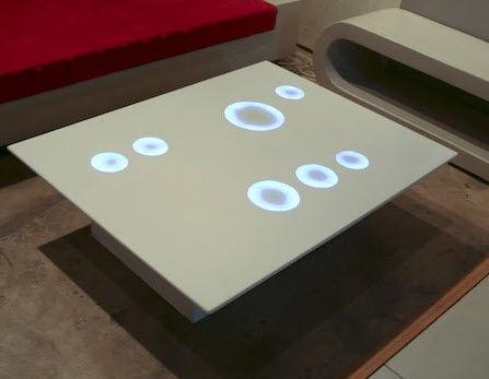 contemporary concrete coffee table COQUELICOT COMPACT CONCRETE