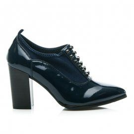 Lakované topánky na jeseň AC02BL /S2-109P