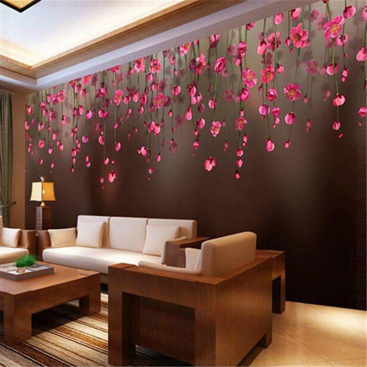 beibehang  Warm Chuihua Rose Custom papel de parede 3D photo 3D wallpaper restaurant sofa backdrop 3d wallpaper for walls 3 d #Affiliate