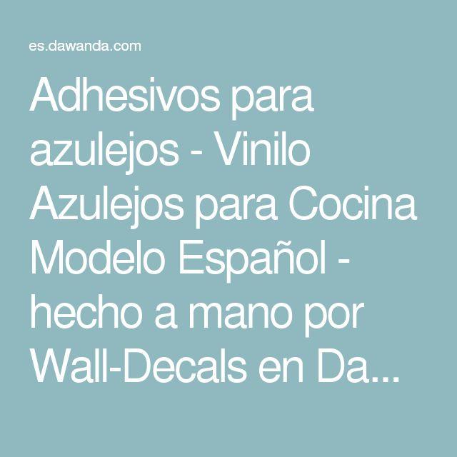 Adhesivos para azulejos - Vinilo Azulejos para Cocina Modelo Español - hecho a mano por Wall-Decals en DaWanda