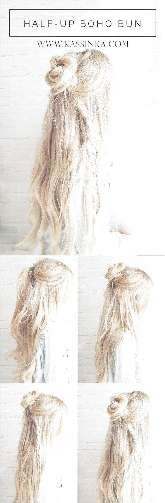 Best Hairstyles for Long Hair – Boho Braided Bun Hair – Step by Step Tutorials for Easy Curls...