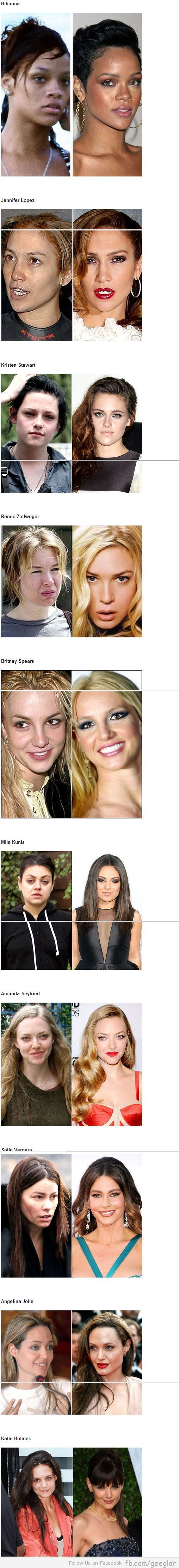 Ummmm, feel a little better about myself... Not sure these are real though... Is it really Mila Kunis?!