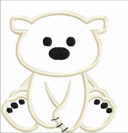 appliqué ours polaire