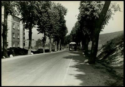 Droga w Orłowie. Po lewej Al. Zwycięstwa 216, a w głębi szkoła Teofila Zegarskiego. Fot. Henryk Poddębski 1935