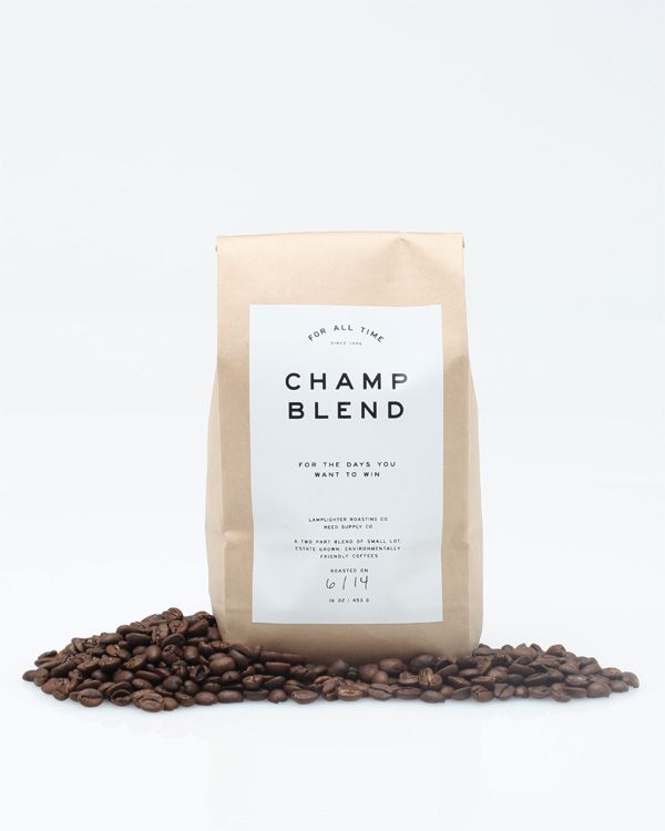 champCoffe Packaging, Fashion Weeks, Coffe Design, Champs Blends, Brand Identity Fashion, Packaging Design, Blends Coffe, Lamplight Coffe, Time Champs