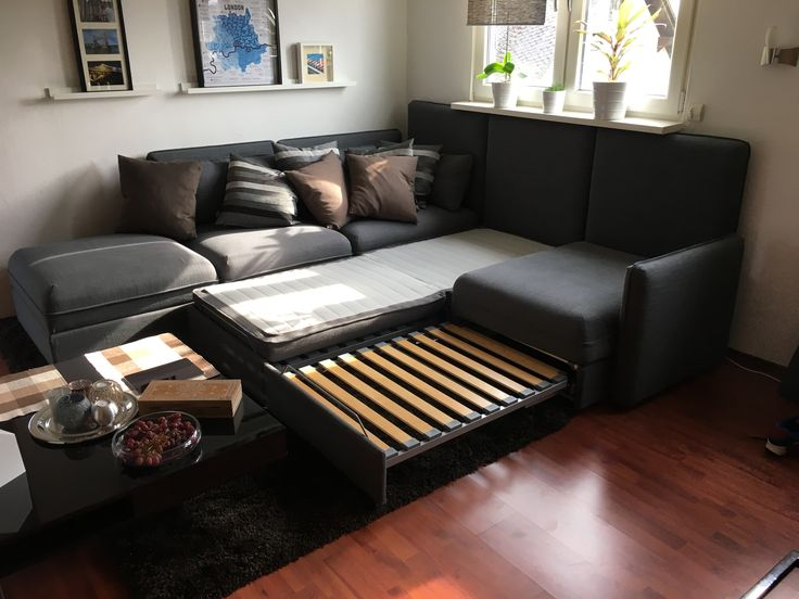 couch bett ikea manstad sofa bed with storage from ikea. Black Bedroom Furniture Sets. Home Design Ideas