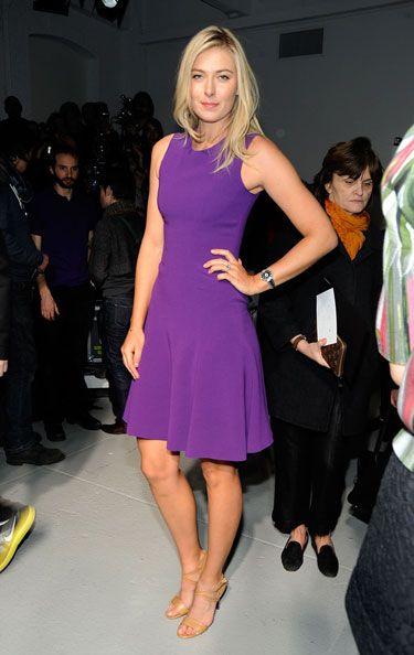 Maria Sharapova Rodarte Front Row - Fall 2012 Fashion Week Parties - Harper's BAZAAR #ColorTheory