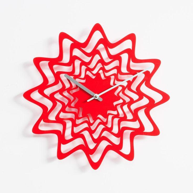 www.muebleslluesma.com Reloj pared d eprogetti en acero pintado diseño de Karim Rashid modelo flux para comprar online en tienda relojes de pared modernos.relojes adhesivos para pared progetti, reloj pared diseño progetti, relojes pared modernos progetti