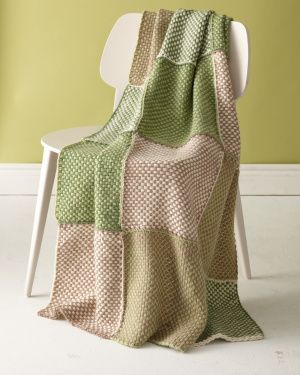 Loom Woven Fresh Green Afghan ... martha stewart's knit & weave loom and pattern .... great colors and texture