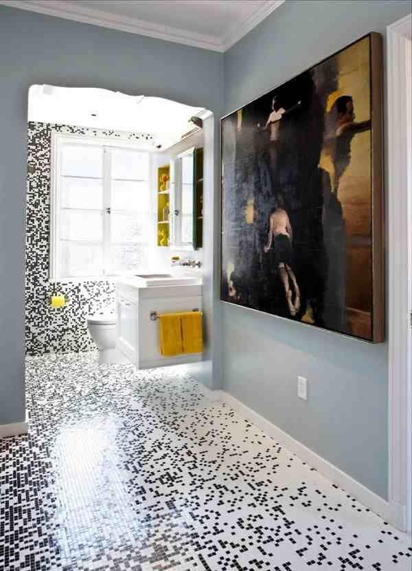 Pixilated Bathroom Custom Mosaic Tile 0 Pixilated Bathroom Design Made With Mosaic  Bathroom Tiles
