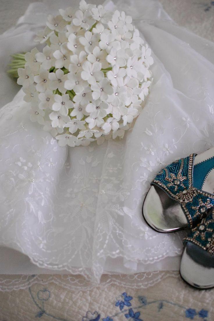 Handcrafted Stephanotis wedding bouquet for a bride in UK | Handmade Flowers