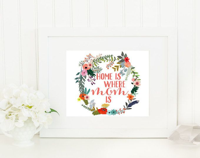 Wall Art, Wall Decor, Home Is Where Mom Is Home Decoration