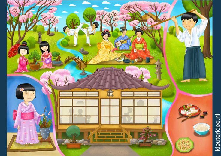 Praatplaat China voor kleuters, kleuteridee.nl, free printable (groot formaat). / Children's illustrations preschool / Láminas Didácticas