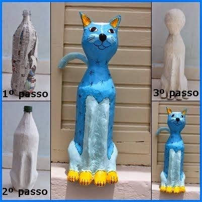 Plastic bottle kitty craft. I will used small size bottles for party favors.